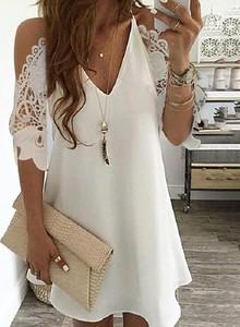 Sukienka Kendallme z odkrytymi ramionami mini z długim rękawem