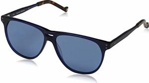 amazon.de Hackett Bespoke męskie okulary przeciwsłoneczne Bespoke niebieskie (granatowe/szare) 57.0