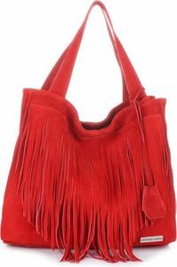 Uniwersalne torebki skórzane firmy vittoria gotti czerwone