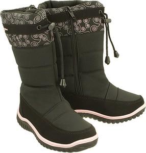 Czarne buty dziecięce zimowe Wojtyłko