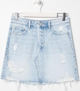 Niebieska spódnica Sinsay mini