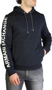 Czarna bluza Armani Exchange w młodzieżowym stylu z bawełny