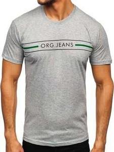 T-shirt Denley z bawełny z krótkim rękawem w młodzieżowym stylu
