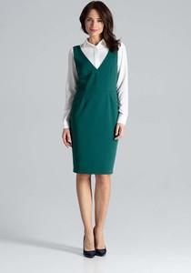 Zielona sukienka Katrus midi ołówkowa bez rękawów