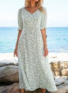 Sukienka Cikelly z dekoltem w kształcie litery v ołówkowa z długim rękawem