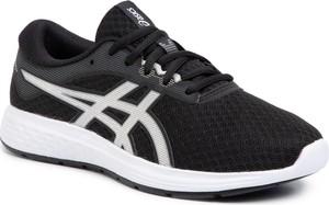 Czarne buty sportowe dziecięce ASICS sznurowane