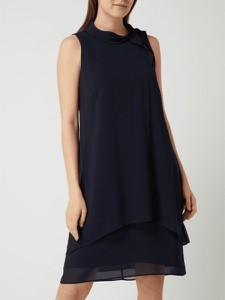 Granatowa sukienka Gerry Weber bez rękawów z okrągłym dekoltem mini