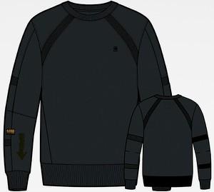 Czarna bluza G-star w stylu casual