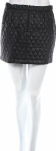 Czarna spódnica Bcbg Max Azria ze skóry mini w stylu casual