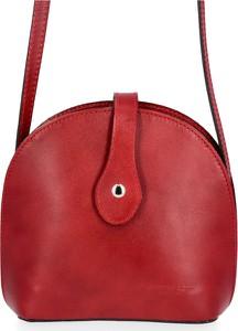 Czerwona torebka VITTORIA GOTTI matowa na ramię