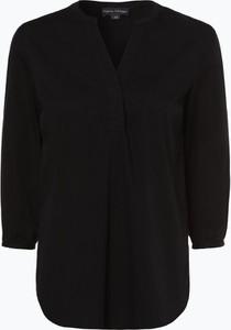 Czarna bluzka Franco Callegari w stylu casual z dekoltem w kształcie litery v