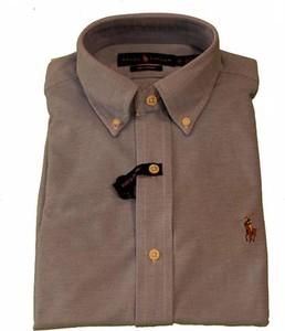 Brązowa koszula POLO RALPH LAUREN z bawełny