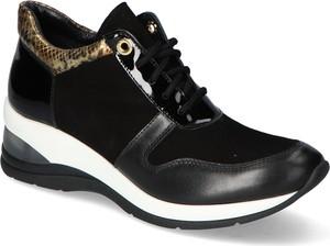 Buty sportowe Veronna ze skóry sznurowane