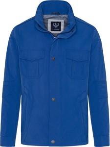 Niebieska kurtka Lavard w stylu casual