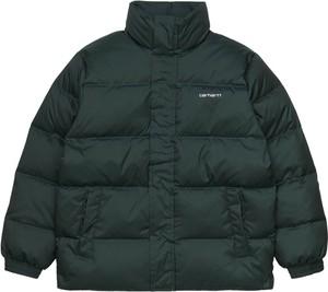 Zielona kurtka Carhartt WIP krótka w stylu casual