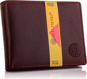Czerwony portfel męski Betlewski