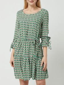 Zielona sukienka Smashed Lemon w stylu casual z długim rękawem mini