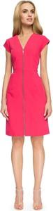 Różowa sukienka Stylove z długim rękawem w stylu casual