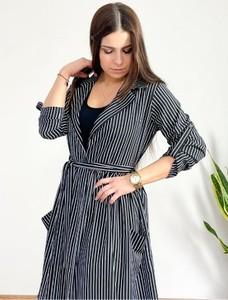 Czarna sukienka Biancaloren.pl z bawełny maxi w stylu casual