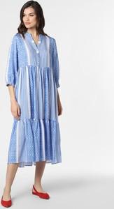 Niebieska sukienka Marie Lund z długim rękawem midi oversize