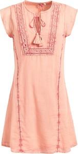 Sukienka khujo ze sznurowanym dekoltem