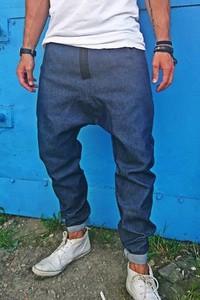 Niebieskie spodnie Button