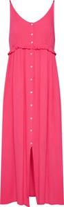 Różowa sukienka Tom Tailor Denim bez rękawów