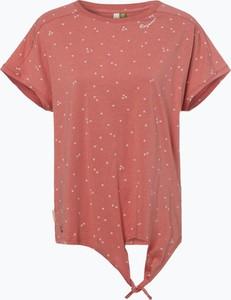 Czerwony t-shirt Ragwear w stylu casual z krótkim rękawem