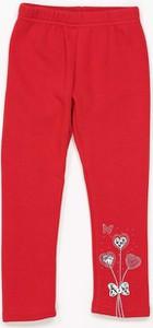 Czerwone legginsy dziecięce Multu