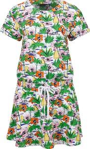 Sukienka Love Moschino midi z krótkim rękawem w stylu casual