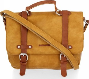 Brązowa torebka David Jones na ramię matowa