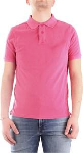 Różowy t-shirt Blauer Usa z bawełny w stylu casual z krótkim rękawem