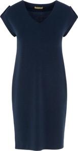 Sukienka Ochnik z krótkim rękawem z dekoltem w kształcie litery v