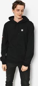 Czarna bluza Brixton w młodzieżowym stylu z bawełny