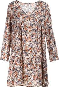 Sukienka Multu mini z długim rękawem z dekoltem w kształcie litery v