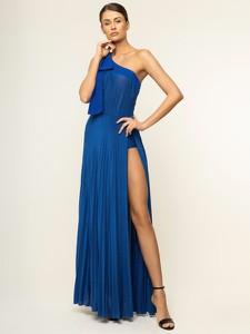Niebieska sukienka Elisabetta Franchi prosta maxi