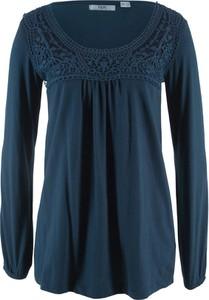 Niebieska bluzka bonprix bpc bonprix collection