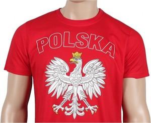 Czerwony t-shirt Wexim w młodzieżowym stylu z krótkim rękawem z bawełny