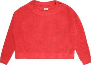 Czerwony sweter Pepe Jeans z dzianiny