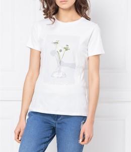 T-shirt BOSS Casual z okrągłym dekoltem z krótkim rękawem
