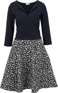 Sukienka Heine z bawełny mini z dekoltem w kształcie litery v