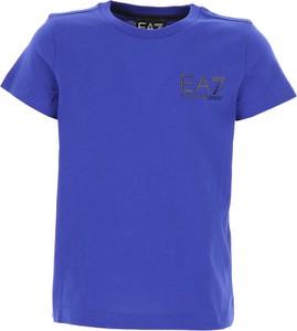 Fioletowa koszulka dziecięca Emporio Armani