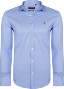 Niebieska koszula Giorgio Di Mare z długim rękawem