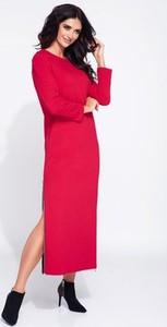Sukienka Bien Fashion z dresówki z długim rękawem maxi