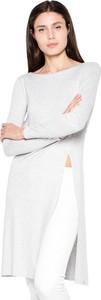Bluzka Venaton z długim rękawem w stylu casual z okrągłym dekoltem