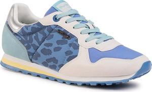 Niebieskie buty sportowe eobuwie.pl sznurowane z płaską podeszwą