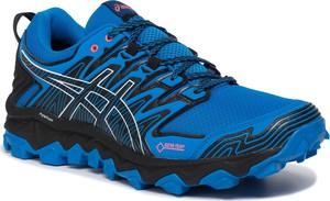Niebieskie buty sportowe ASICS z goretexu sznurowane
