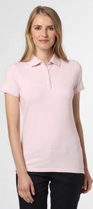 Różowy t-shirt Marie Lund z krótkim rękawem