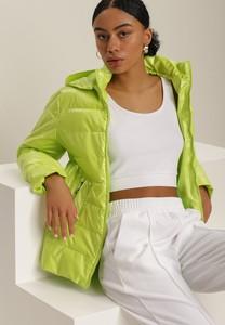 Zielona kurtka Renee w stylu casual krótka