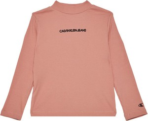 Różowa bluzka dziecięca Calvin Klein z jeansu